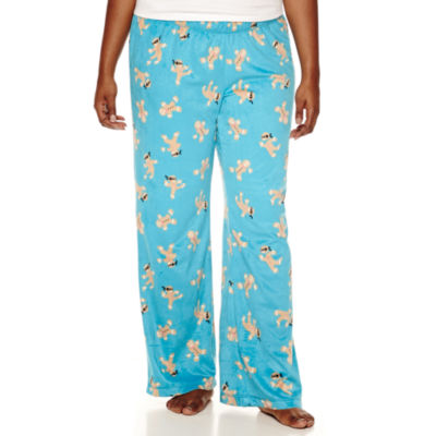 Flirtitude Microfleece Dots Pajama Pants-Juniors Plus