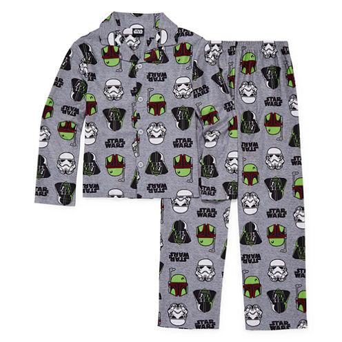Starwars Coat Front Pajama Set- Boys