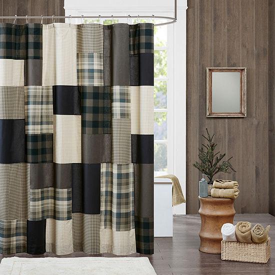 Woolrich Winter Hills Cotton Shower Curtain