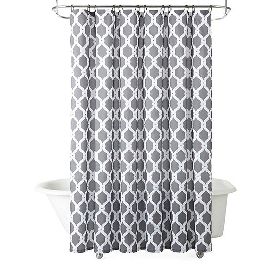 JCPenney HomeTM Trellis Shower Curtain And 12 Pc Hooks Set