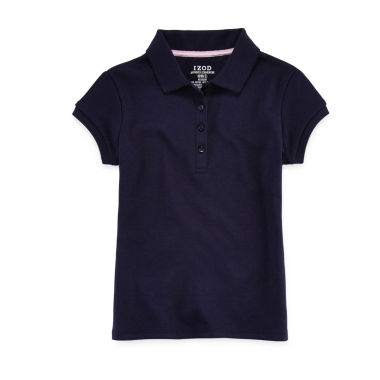IZOD® Short-Sleeve Picot Collar Polo - Preschool Girls 4-6x