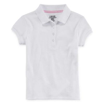 IZOD® Short-Sleeve Picot Collar Polo - Preschool Girls 4-6x