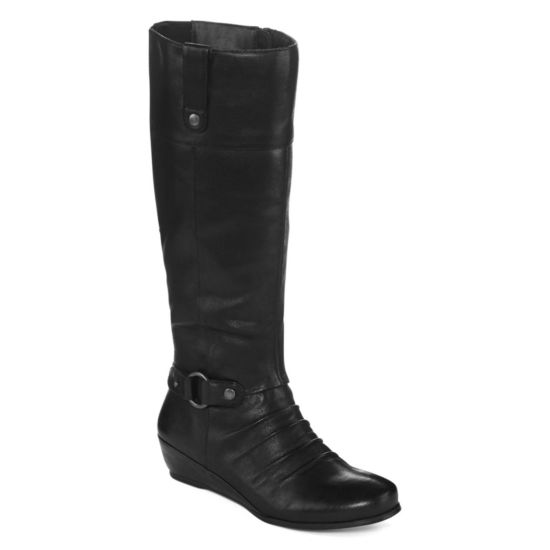 Yuu™ Shela Wedge Riding Boots - Wide Width, Wide Calf