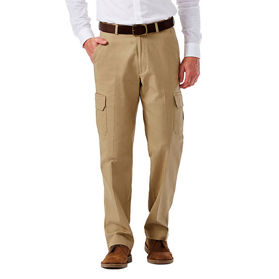 Haggar® Stretch Comfort Cargo Classic-Fit Flat-Front Pants