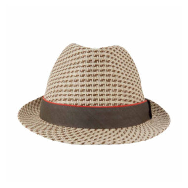 Haggar® Tri-Color Straw Fedora