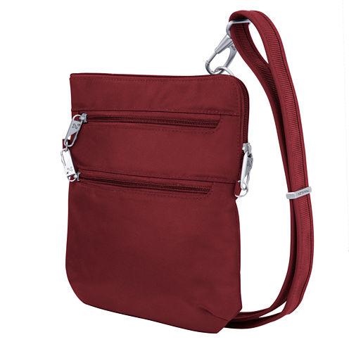 Travelon Anti-Theft Classic Slim Double Zip Crossbody Bag