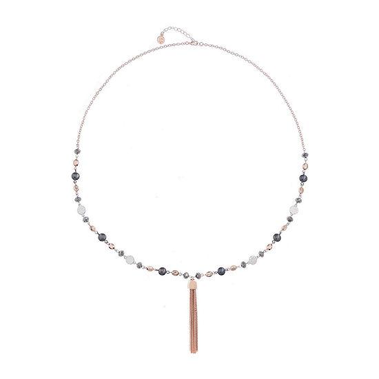 Liz Claiborne 34 Inch Cable Round Pendant Necklace