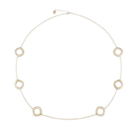 Liz Claiborne 40 Inch Cable Square Strand Necklace, One Size , Yellow