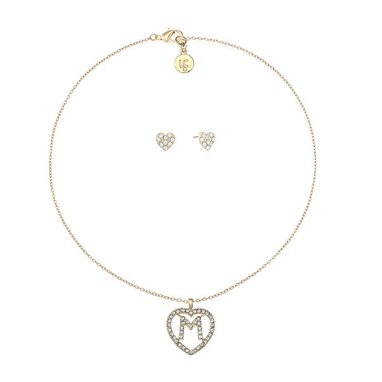 Liz Claiborne 2-pc. Heart Jewelry Set