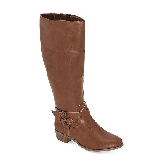 a.n.a Womens Torrance Wide Calf Block Heel Riding Boots