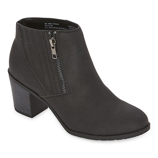 a.n.a Womens Ocean Block Heel Booties