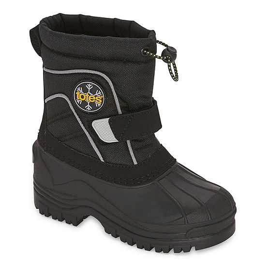 Totes Little Kid/Big Kid Boys Waterproof Flat Heel Winter Boots