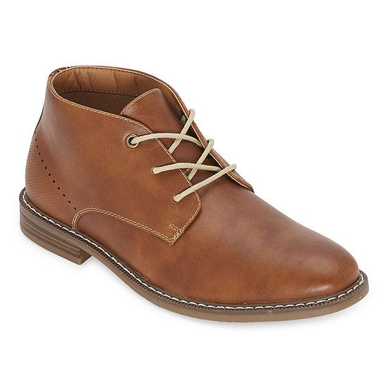 JF J.Ferrar Mens Gilbert Block Heel Chukka Boots