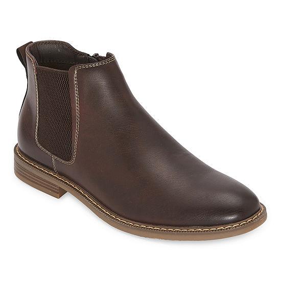 JF J.Ferrar Mens Leonard Chelsea Block Heel Boots