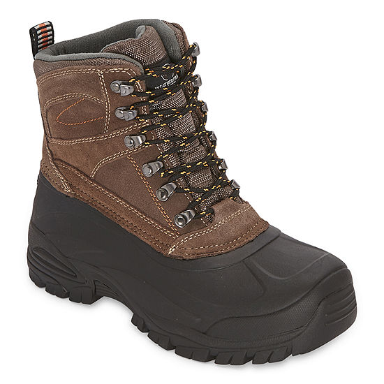 Weatherproof Mens Summit-Wp Insulated Winter Flat Heel Boots