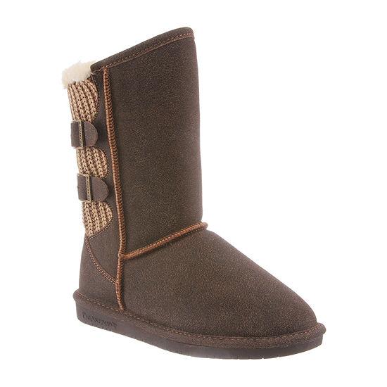 Bearpaw Womens Boshie Flat Heel Winter Boots