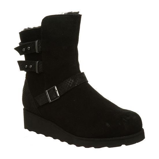 Bearpaw Womens Lucy Block Heel Winter Boots