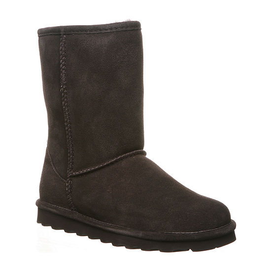 Bearpaw Womens Elle Short Wide Water Resistant Winter Boots Flat Heel Wide Width
