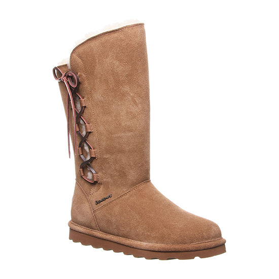 Bearpaw Womens Bp Rita Wide Winter Boots Flat Heel Wide Width