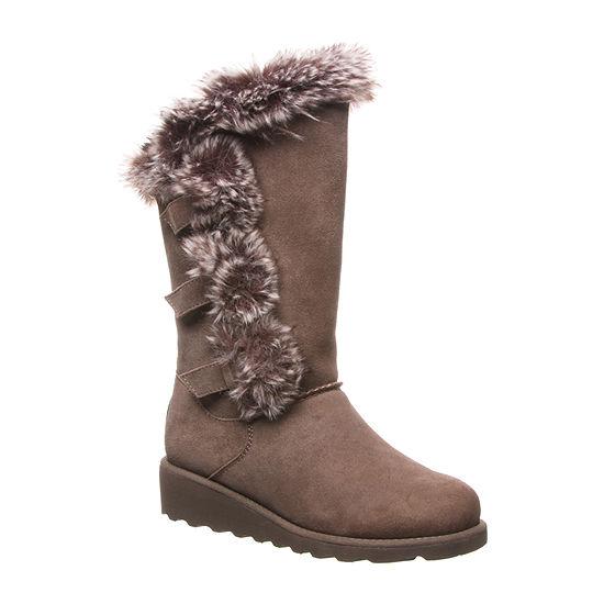 Bearpaw Womens Genevieve Winter Boots Flat Heel