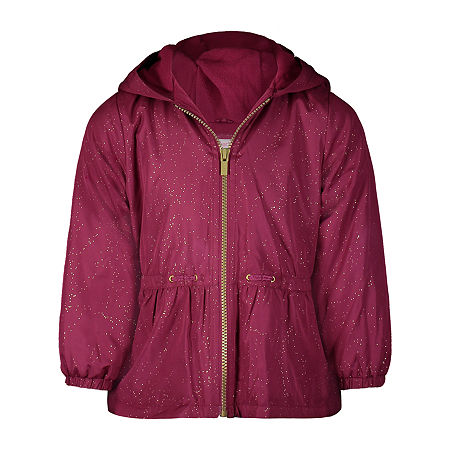 Carter's Baby Girls Hooded Midweight Jacket, 12 Months , Red