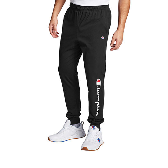 Champion Mens Regular Fit Graphic Jersey Jogger Pant