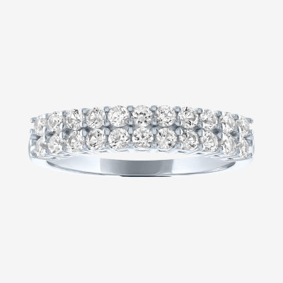 Limited Time Special! Lab Created White Sapphire Sterling Silver Band