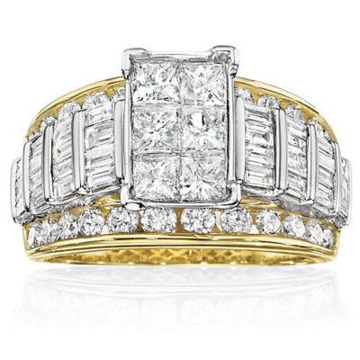 3 CT. T.W. Diamond Multi-Stone Engagement Ring