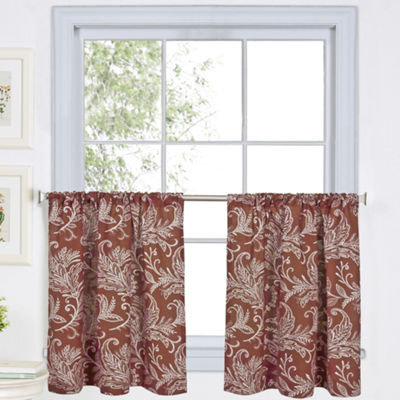 Flora Rod-Pocket Window Tiers