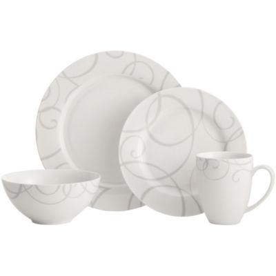 Oneida® Symphony Gray 16-pc. Dinnerware Set  sc 1 st  JCPenney & Oneida Symphony Gray 16 pc Dinnerware Set JCPenney