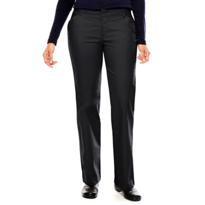 Dickies® Womens Relaxed-Fit Straight-Leg Stretch Twill Pants