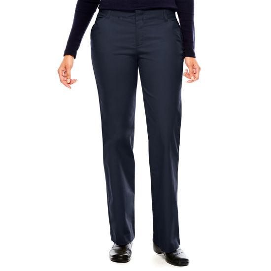 Dickies® Misses Relaxed-Fit Straight-Leg Stretch Twill Pants-Tall