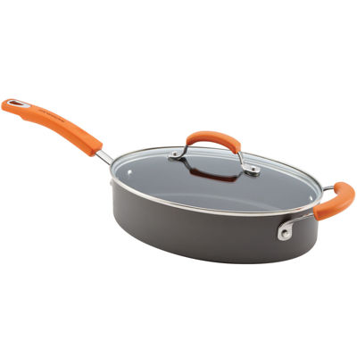 Rachael Ray® Hard-Anodized Covered Oval Sauté Pan with Helper Handle