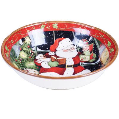 Certified International Santa's Workshop Serving Bowl
