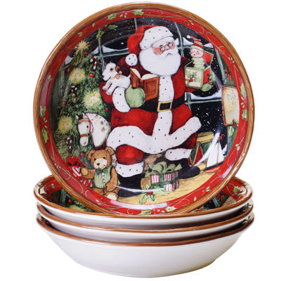 Certified International Santa's Workshop Set of 4 Soup Bowls