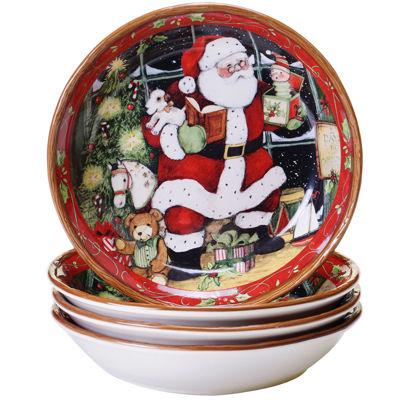 Certified International Santa's Workshop Set of 4 Soup Bowls