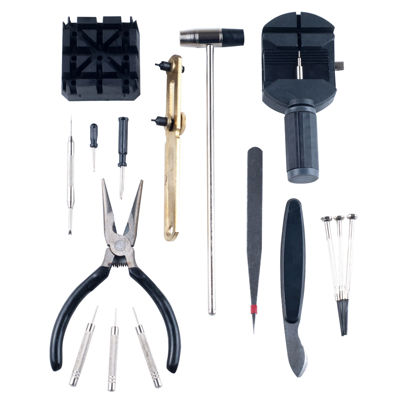 Stalwart™ 16-pc. Professional Watch and Jewelry Repair Tool Kit