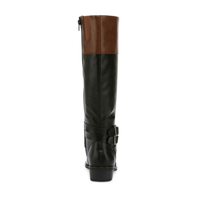 Arizona Womens Denmark Wide Calf Riding Boots Block Heel Zip