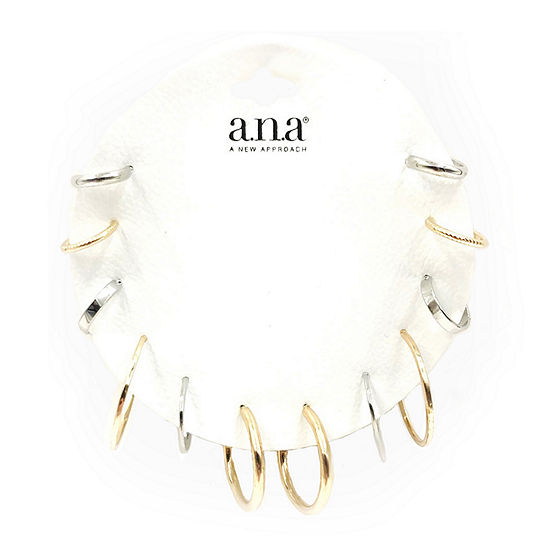 a.n.a 6 Pair Earring Set
