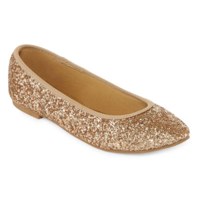 Peyton & Parker Glitter Womens Ballet Flats