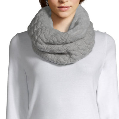 Mixit Cable Knit and Faux Fur Cold Weather Cowl