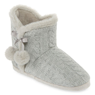 Mixit Mommy and Me Cable Knit Bootie Slippers
