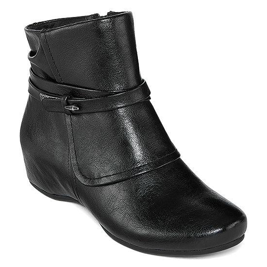 d7e09944cf55 Yuu Womens Scarlet Wedge Heel Zip Bootie - JCPenney