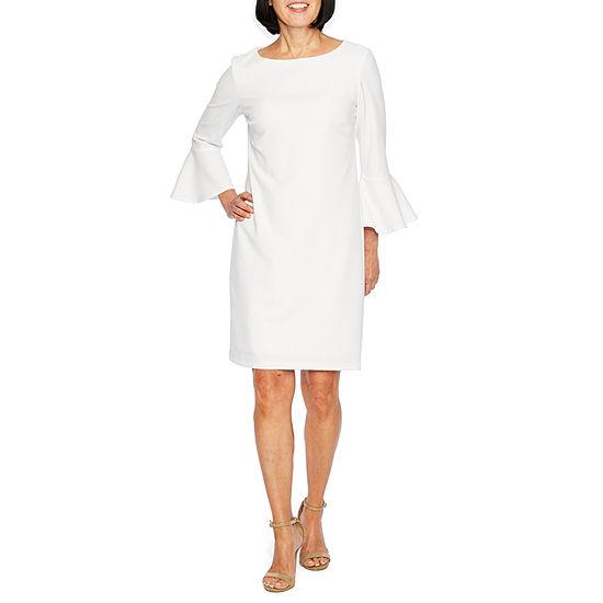 f402156977 Liz Claiborne 3 4 Sleeve Sheath Dress JCPenney