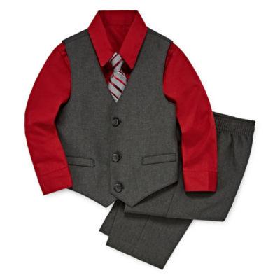 Van Heusen 4-pc. Textured Suit Vest Set - Baby Boys
