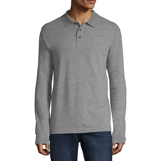 33cf49f1ad5 St. John's Bay Mens Long Sleeve Polo Shirt - JCPenney