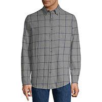 St. John's Bay Mens Long Sleeve Flannel Shirt (Multiple Color)