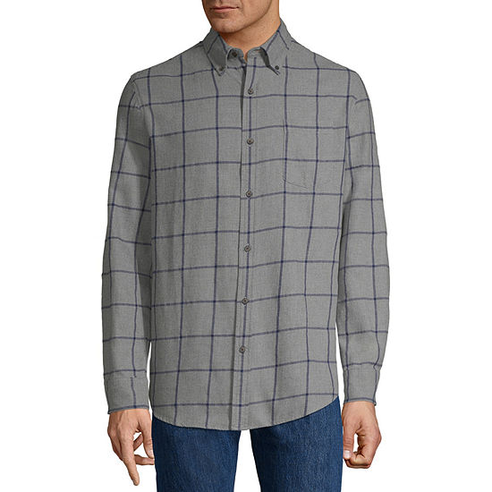 5332d9e244 St. John s Bay Mens Long Sleeve Flannel Shirt - JCPenney
