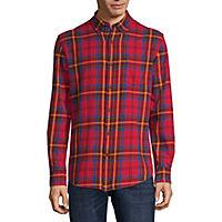 St. Johns Bay Mens Long Sleeve Flannel Shirt