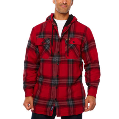 Smith Microfleece Lined Hooded Flannel Shirt Jacket
